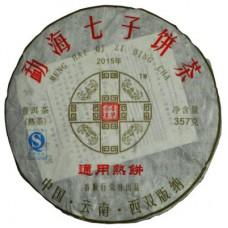 2015年番顺茶业357克通用熟饼